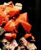 Cristales del cuarzo rojo Imágenes de archivo libres de regalías