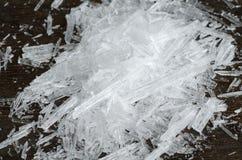 Cristales del mentol Fotografía de archivo libre de regalías