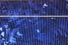 Cristales del panel solar Fotos de archivo libres de regalías