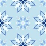 Cristales del vector Línea inconsútil modelo Fotografía de archivo libre de regalías