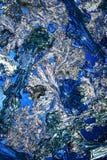Cristales en azul real   imágenes de archivo libres de regalías