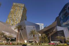 Cristales en el centro de ciudad, madrugada en Las Vegas, nanovoltio en abril fotos de archivo libres de regalías