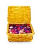 Cristales en una cesta, aislada Fotos de archivo
