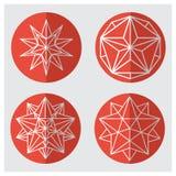cristales Formas hexagonales fijadas stock de ilustración