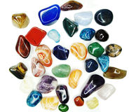 Cristales geológicos de la ágata del sodalite del granate del cuarzo de la amatista Fotografía de archivo