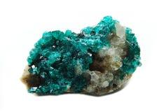Cristales geológicos de la geoda de Doptase Foto de archivo libre de regalías