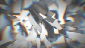 Cristales grises animados con la aberración cromática 4K stock de ilustración