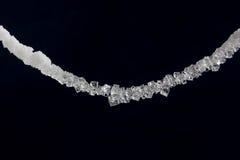 Cristales hermosos de la sal en una secuencia Foto de archivo