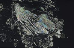 Cristales hermosos de la vitamina c Fotos de archivo