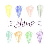 Cristales minerales coloreados Fotos de archivo libres de regalías