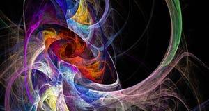 Cristales multicolores del fractal libre illustration