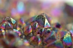 Cristales multicolores macros Imagen de archivo