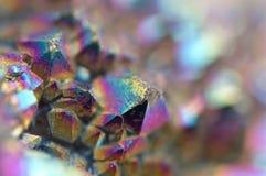 Cristales multicolores macros Imágenes de archivo libres de regalías