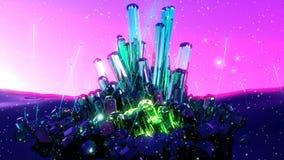 Cristales que brillan intensamente místicos de la fantasía abstracta libre illustration