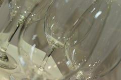 Cristales vacíos Imagen de archivo libre de regalías