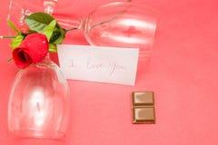 Cristales y rosas Fotografía de archivo libre de regalías