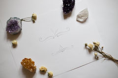 Cristales y rosas Imagenes de archivo