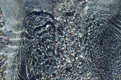 Cristalina do água de Textura a Dinamarca. Fotografia de Stock