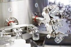 Cristalleria della medicina della farmacia al lavaggio fotografie stock libere da diritti