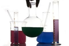 Cristalleria di chimica Fotografia Stock Libera da Diritti