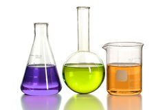 Cristalleria di Laboraory Immagini Stock Libere da Diritti