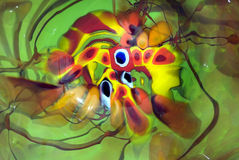 cristalleria Mano-saltata Immagini Stock