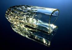 Cristalleria su uno specchio Immagine Stock Libera da Diritti