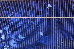 Cristalli del comitato solare Fotografie Stock Libere da Diritti