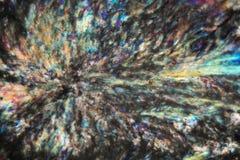 Cristalli del mentolo sotto il microscopio fotografie stock libere da diritti