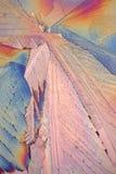 Cristalli dell'acido citrico fotografia stock