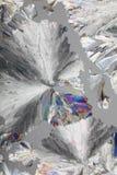 Cristalli dell'acido citrico a macroistruzione fotografia stock libera da diritti