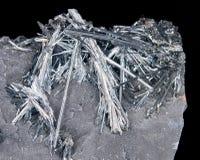 Cristalli dello Stibnite Fotografia Stock Libera da Diritti