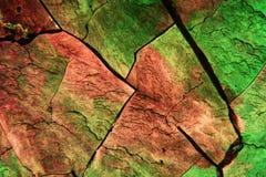 Cristalli dello zolfo sotto il microscopio Fotografia Stock