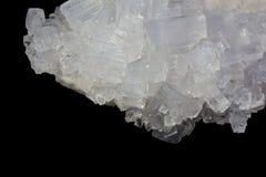 cristalli di bianco del sale fotografia stock