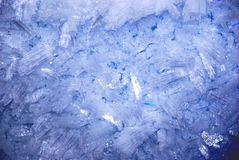 Cristalli di ghiaccio blu Immagine Stock Libera da Diritti