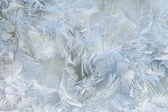 Cristalli di ghiaccio della finestra Immagine Stock
