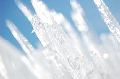 Cristalli di ghiaccio dentellati Immagini Stock