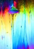 Cristalli di ghiaccio variopinti Fotografie Stock