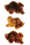 Cristalli di pietra isolati Immagini Stock Libere da Diritti