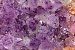 Cristalli di quarzo ametisti Immagine Stock Libera da Diritti