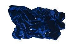 Cristalli di rocca del velluto dei drappi Immagini Stock