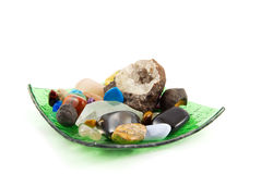 Cristalli di roccia Fotografie Stock Libere da Diritti