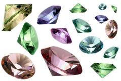 Cristalli di vetro Fotografie Stock Libere da Diritti