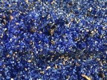 Cristalli di vetro del fuoco del cobalto Fotografia Stock Libera da Diritti