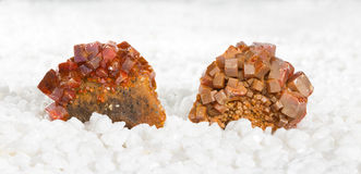 Cristalli di Wulfenite Immagine Stock