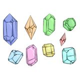 Cristalli e diamanti Immagine Stock Libera da Diritti