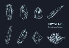 Cristalli e minerali Vettore 2 Immagini Stock Libere da Diritti