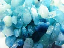 Cristalli geologici di geode dell'acquamarina immagine stock