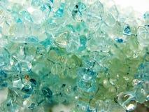 Cristalli geologici di geode dell'acquamarina fotografia stock libera da diritti