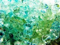 Cristalli geologici di geode dell'acquamarina fotografia stock